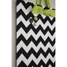 Fabric Magnet Board (12x18) - Black Chevron