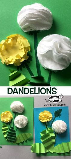 DANDELIONS+with+cotton+pads