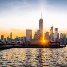 Sunrise over Lower Manhattan from Exchange Place Jersey City NJ by @nyclovesnyc @b911bphoto @dalton922 #newyorkcity #nyc #newyork