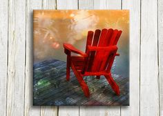 Red chair Canvas art 12/12 by OneDesign4U on Etsy, $39.00