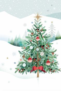 Leading Illustration & Publishing Agency based in London, New York & Marbella. Christmas Time Is Here, Christmas Mood, Noel Christmas, Christmas Pictures, Christmas Greetings, All Things Christmas, Vintage Christmas, Christmas Crafts, Christmas Decorations