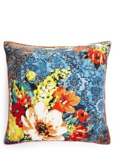 Tapestry Floral Print Cushion