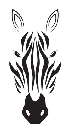 Zebra stencil for inverted carving Stencils, Stencil Art, Animal Stencil, Zebra Drawing, Zebra Painting, Zebra Face, Stencil Patterns, Stencil Templates, Owl Patterns