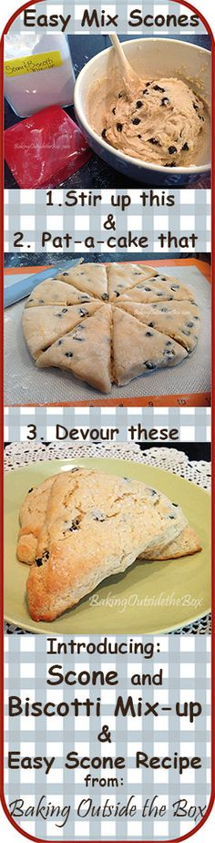 From Baking Outside the Box: Make the yummy Pat-a-Cake Scones Recipe using the easy Scone and Biscotti Mix-up.