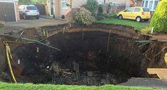 Another giant sinkhole opens in UK #UK, #Sinkhole, #World