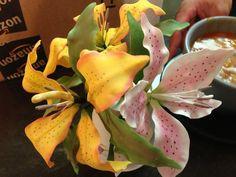 Made some gumpaste Tiger Lilies.