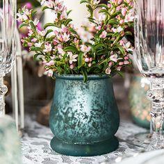 Bell Shaped Glass Tealight Holder - Bridal Everything #VintageWedding
