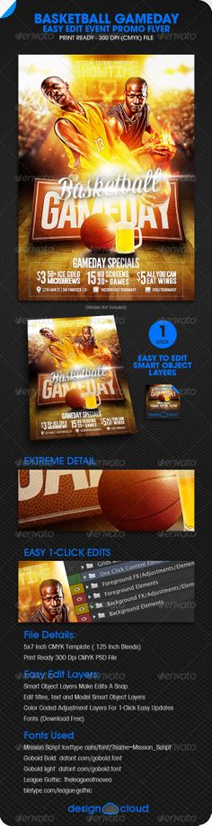 Basketball Templates | 28 Best Sport Flyer Templates | Graphic