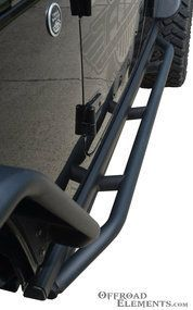Jeep Wrangler JK 4 Door Side Steps and Rocker Guards: Maneuver in and out of your vehicle with ease and keep your Jeep's body protected from trail damage