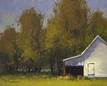 New Harmony Barn by Kim Casebeer Oil ~ 8 x 10
