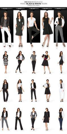 White House Black Market – 5 Pieces To Endless Style Make Black & White Work In Beautiful Ways