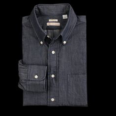 Button Down Shirt in Denim by New England Shirt Company