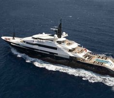 Seven-Seas; If you are Steven Spielberg, you purchase a $200M super yacht called 7 Seas; but at just under 300 feet (86m) it's roughly the size of an American football field. If you're keen on renting the yacht for 12 of your friends, Mr. Spielberg will gladly offer you the chance at $1.3 million per week. Don't worry, you would totally be getting your money's worth: an infinity pool, movie theater (that assumingly plays Jaws) and a gymnasium.
