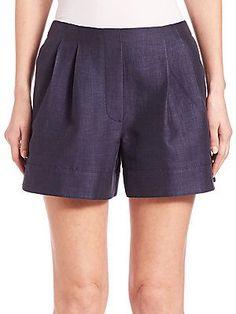 3.1 Phillip Lim Pleated Shorts - Indigo - Size