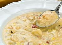 Before summer ends, serve this delicious classic chowder garnished with fresh herbs. Enjoy English Muffin Grilled Cheese Sammies on the side. I looove this chowder Crab And Corn Chowder, Fish Chowder, Crab Soup, Clam Chowder, Salmon Chowder, Haddock Chowder Recipe, Chicken Chowder, Potato Soup, Corn Soup Recipes