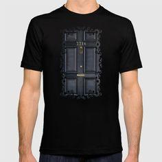Classic Old sherlock holmes 221b door iPhone 4 4s 5 5c, ipod, ipad, tshirt, mugs and pillow case T-shirt