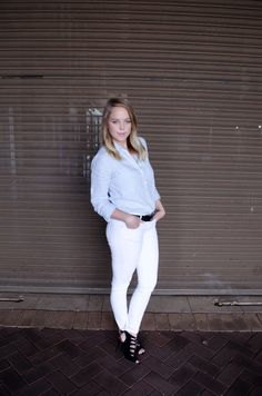 Polishedcotton White Jeans, Cotton, Pants, Outfits, Style, Fashion, Tall Clothing, Moda, Trousers