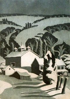 "George Jo Mess (1898-1962)  ""Winter in the Hills"""