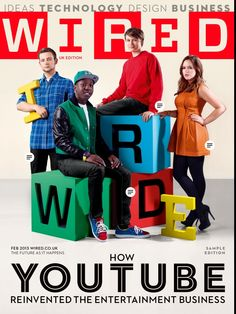Charlie and other youtubers in Wired !