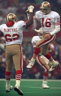 Joe Montana, walking on air, as he beats down the Denver Broncos in Super Bowl XXIV.