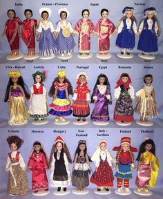 Dolls in costumes of the World (complete collection of dolls - DeAgostini Russia)