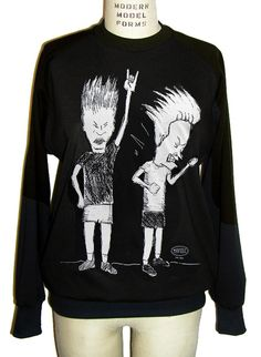 Yeahhh! Beavis And Butt-Head are back rockin' out!   http://www.idilvicefashionrocks.com/servlet/the-855/Beavis_and_Butt_head_t-dsh-shirt-sweatshirt-heavy_metal_clothing-unisex_clothing/Detail