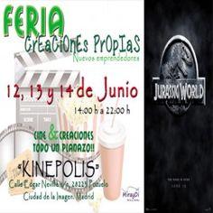 Feria Creaciones Propias 12, 13 y 14 de Junio en los Cines Kinépolis ^_^ http://www.pintalabios.info/es/eventos-moda/view/es/2085 #ESP #Evento #Ferias