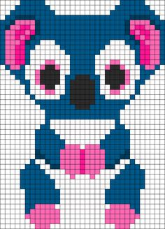 Kooky Koala Beanie Boo Perler Bead Pattern