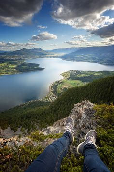 The foot selfie on Bastion mountain over looking Salmon Arm BC, Canada :)