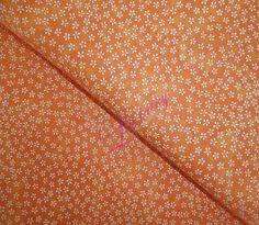 Bavlněná látka Bílé prskavky na oranžové Red, Scrappy Quilts