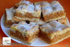 Fantastický koláčik, vyskúšajte ho napríklad z nových jabĺčok. Hungarian Cake, Hungarian Recipes, Apple Recipes, Sweet Recipes, Cookie Desserts, Dessert Recipes, Pretzels Recipe, Bread And Pastries, Winter Food