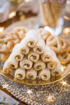 Slovakian Roczki cookies (Kolacky) are made with a tender, yeasted dough rolled up in a cigar shape with a simple, lemony, ground nut filling. Shortbread Recipes, Cookie Recipes, Dessert Recipes, Desserts, Recipes With Yeast, Sweet Recipes, Christmas Baking, Christmas Cookies, Polish Christmas