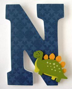 Wooden Letters for Nursery Dinosaur Theme Custom by LetterLuxe