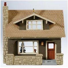 Craftsman Bungalow, Nostalgic Houses & Shops Series Hallmark Ornament, 2011