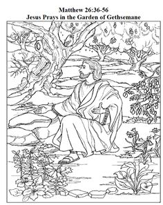 Afbeelding Goliath Kleurplaat 4 Jesus Arrested In The Garden Of Gethsemane Coloring Page
