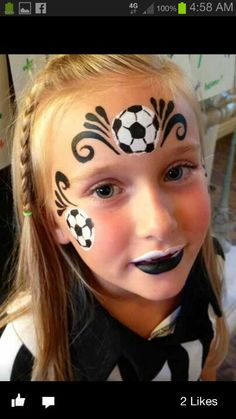 soccer facepainting for girls party