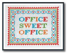 Office Sweet Office Cross Stitch Pattern Instant Download