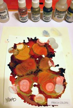 YUPO is a synthetic paper which is ideal for working with alcohol inks.