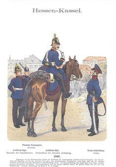 Band XII #32.- Hessen-Kassel. Artillerie. Train. 1866.