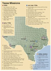 The Spanish Missions in Texas | Texas Almanac- this is a great resource to use for teaching about important people during the European colonization. I could use this to show students maps of where certain people set up missions. I could also have a link set up so that students could go here to research individuals for their final project.
