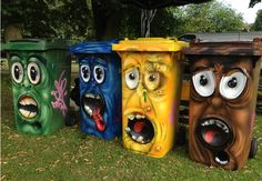 Trash can – street art – # trash can – Graffiti World 3d Street Art, Street Art Graffiti, Urban Street Art, Amazing Street Art, Urban Art, Amazing Art, Banksy Graffiti, Best Street Art, Graffiti Artists