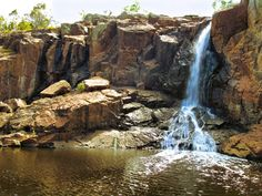 Waterfall in a Dry Country Bulart VIC Australia South Australia, Waterfall, Victoria, Country, World, Outdoor, The World, Outdoors, Rural Area