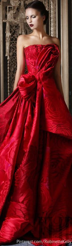 The Millionairess of Pennsylvania / karen cox.  Ravishing red / Valentine's Day.  Rami Kadi Couture