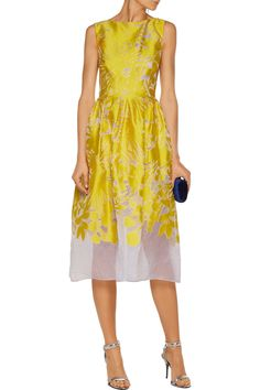 Shop on-sale Lela Rose Pleated devoré satin-twill midi dress. Browse other discount designer Dresses & more on The Most Fashionable Fashion Outlet, THE OUTNET.COM