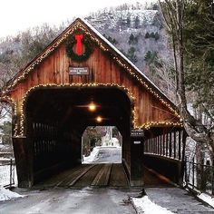 This charming Woodstock Middle Bridge in Woodstock, Vermont.