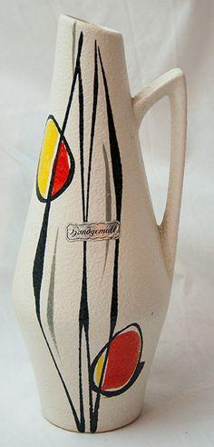 Scheurich handled vase - 50s