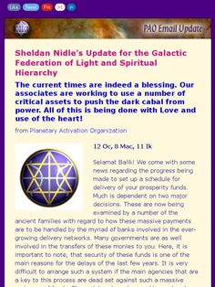 Update by Sheldan Nidle~3-31-15~Global prosperity...