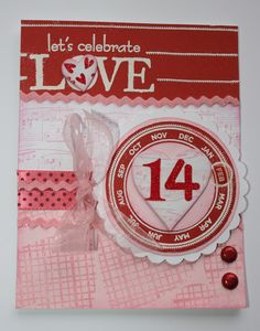 Karen Pedersen: Valentine Card with the January Stamp of the Month