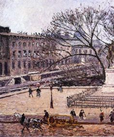 The Treasury and the Academy, Gray Weather, 1903 - Camille Pissarro - WikiArt.org