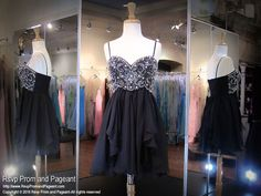 Black Spaghetti Strap Sweetheart Short Homecoming Dress